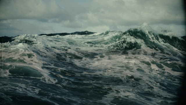 rough north sea sailing: waves and surf - nautical vessel stock videos & royalty-free footage