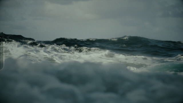 rough north sea sailing: waves and surf - seascape stock videos & royalty-free footage