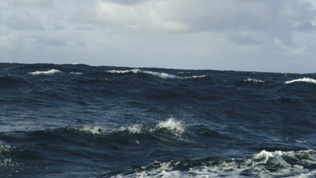 rough north sea sailing: waves and surf - atlantic ocean stock videos & royalty-free footage