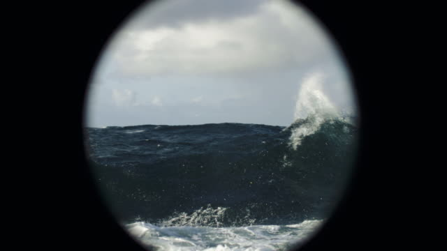 rough north sea sailing: waves and surf - ship stock videos & royalty-free footage