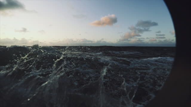 rough north sea sailing: waves and surf - atlantic ocean stock videos & royalty-free footage