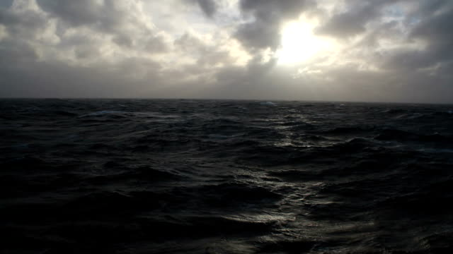 ws rough oceans at sunset, antarctica - antarctica sunset stock videos & royalty-free footage