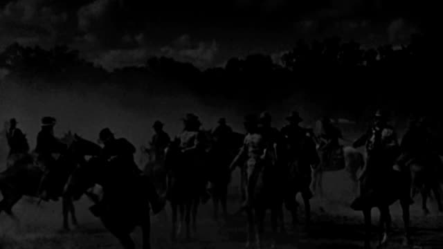 rough riders of the spanish-american war ride bucking broncos and await orders from theodore roosevelt. - 1898 stock videos & royalty-free footage