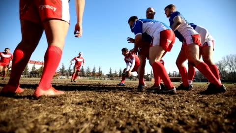 粗いラグビー ゲーム - スポーツ ラグビー点の映像素材/bロール