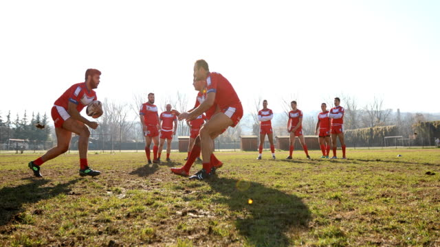 rough rugby practice - rugby stock videos and b-roll footage