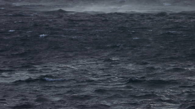 rough sea during a ocean gale - norwegian sea stock videos & royalty-free footage