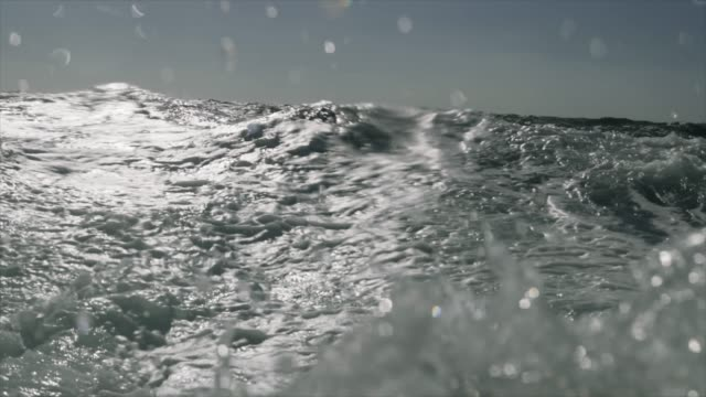 rough sea from a sailing boat window, waves crashing - rough stock videos & royalty-free footage