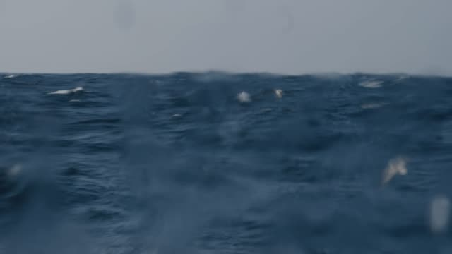 rough sea from a sailing boat window, waves crashing - north sea stock videos & royalty-free footage