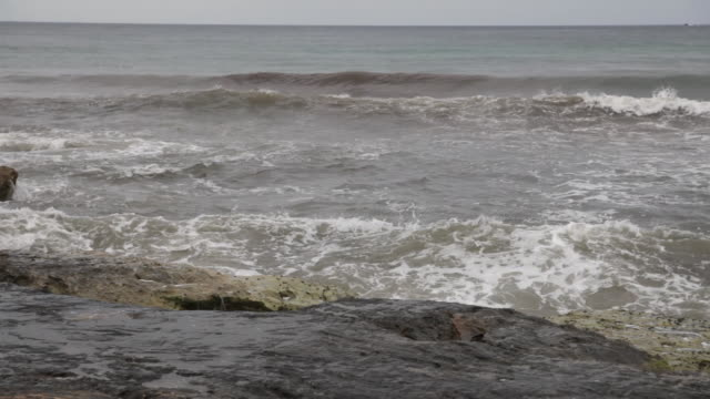 rough sea hotting rocky coast - water's edge stock videos & royalty-free footage