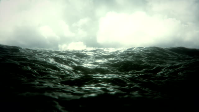 stockvideo's en b-roll-footage met rough seas (loopable) - wave