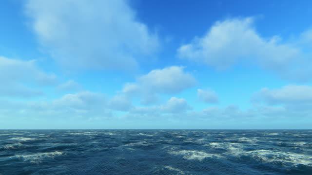 vidéos et rushes de mers rugueuses - horizon