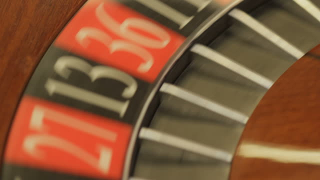 roulette wheel spinning with ball - roulette stock videos and b-roll footage