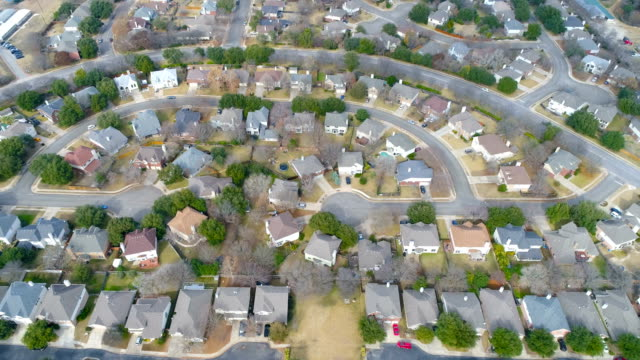 round rock , texas modern new suburb aerial drone view - modern rock stock videos & royalty-free footage