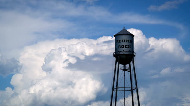 round rock water tower - small town america stock videos & royalty-free footage