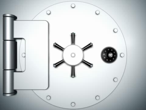 round safe door. - artbeats stock-videos und b-roll-filmmaterial