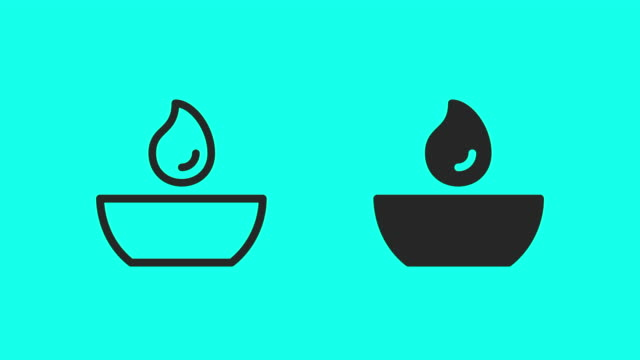 round tea light icons - vector animate - remembrance day stock videos & royalty-free footage