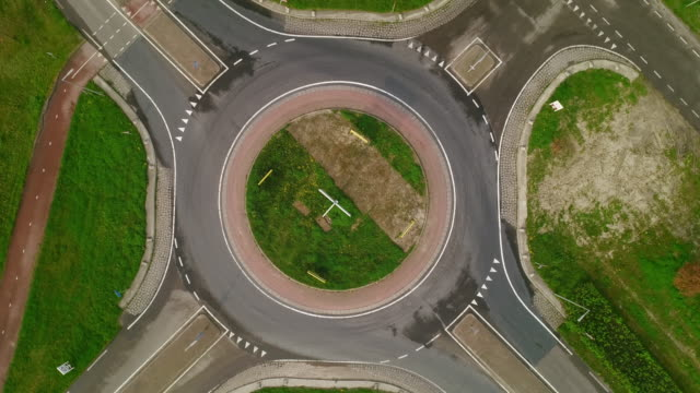 roundabout - empty road stock videos & royalty-free footage