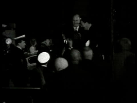 history file / 28567 b/w archive sir francis chichester stepping ashore and being welcomed by officials sir francis chichester speaking sot looking... - francis chichester stock videos & royalty-free footage