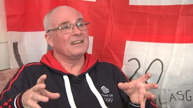 roundup of day 5 british medals england int david laugher interview sot - day 5 stock videos & royalty-free footage
