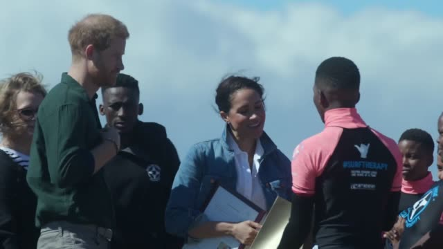 a roundup of some of the highlights of the duke and duchess of sussex's royal tour of south africa so far includes a visit to the nyanga township... - prince harry stock videos & royalty-free footage