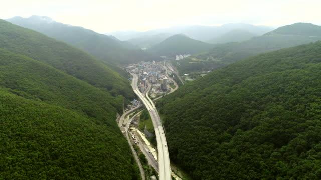 route 42 and nearby area of jeongseon county, gangwon province, south korea - 水の形態点の映像素材/bロール