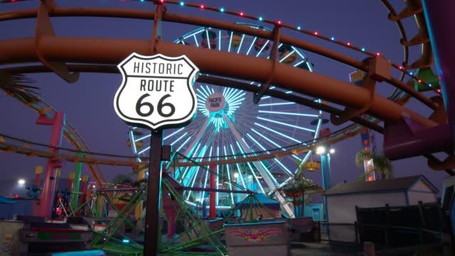 vidéos et rushes de route 66 sign - route 66