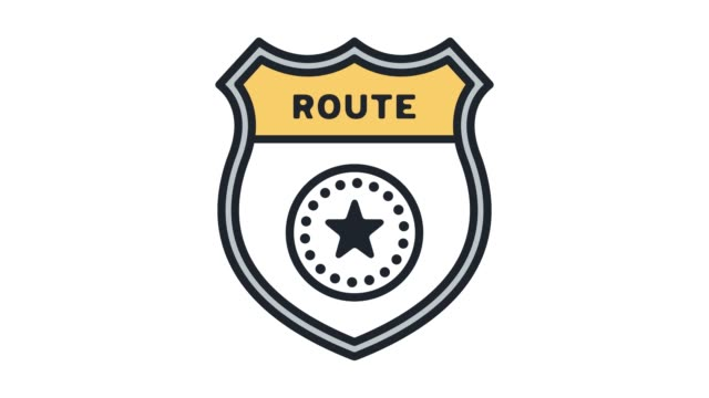 route planning optimization line icon animation with alpha - map icon stock videos and b-roll footage