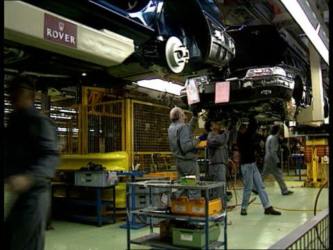 honda breaks ties int birmingham longbridge seq rover production line - longbridge stock videos & royalty-free footage