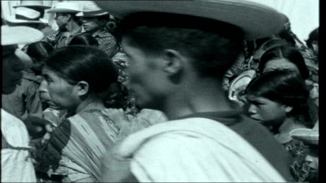 belize affair guatemala chichicastenango ext various views of market day in indian rural town of chichicastenango in the highlands close shots of... - maya kultur stock-videos und b-roll-filmmaterial