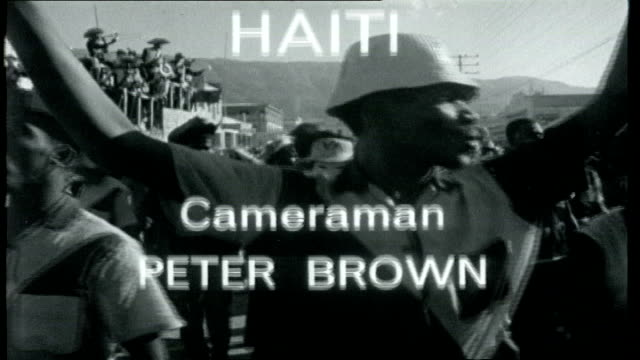 castro's neighbour haiti graphicised seq carnival / credits - haiti stock videos & royalty-free footage