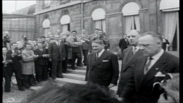 france faces the future ** music over following shots ** general de gaulle along - charles de gaulle stock videos and b-roll footage