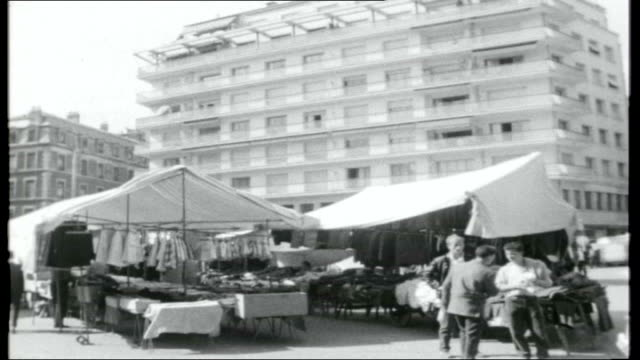 grenoble boom town of france general views of modern flats / various of building site / general view of marketplace with modern building in the... - kitchenware department stock videos and b-roll footage