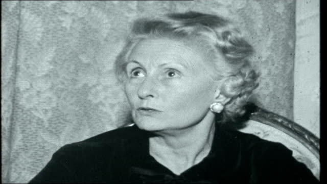 man against de gaulle defferre's wife marieantoinette interviewed sot defferre supporters eating banquet lunch defferre eating lunch wife of defferre... - charles de gaulle stock videos and b-roll footage
