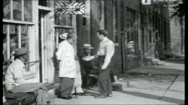 north atlantic journey; virginia: old houses / people into carriage driven by black man in traditional costume norfolk: black people on street in... - us navy stock videos & royalty-free footage