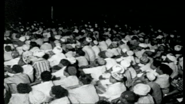 outlook for sallal int yemenis sitting at aden tuc meeting - 1962 stock videos & royalty-free footage