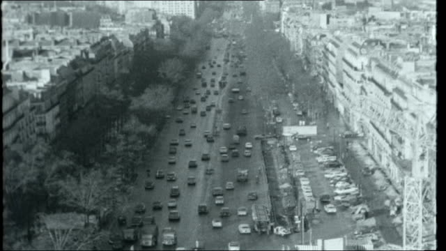 Paris Preserved More interview with Nancy Mitford SOT Street scene traffic policeman traffic traffic jam cars in traffic traffic on bridge TV traffic...