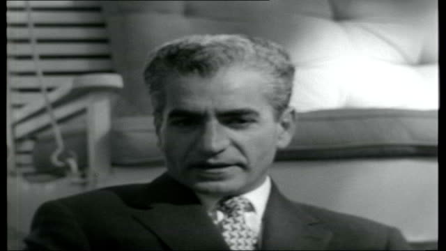 royal persia; mohammad reza pahlavi interview sot - on writing his autobiography / on his personal safety - 'i will be around until my time is up and... - autobiography stock videos & royalty-free footage