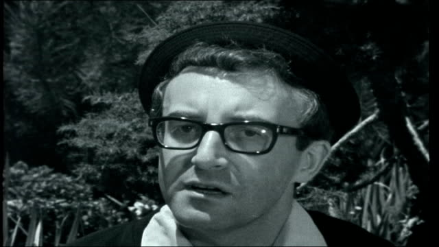 sellers at home / tall ships race peter sellers interview continued sot had been working too hard and didn't have holiday ' ride from registry office... - tall person stock videos and b-roll footage