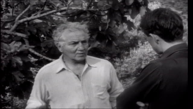 spanish holiday west majorca path in garden with mountains in background ryan talking to robert graves robert graves interview sot lives in olive... - balearics stock videos & royalty-free footage