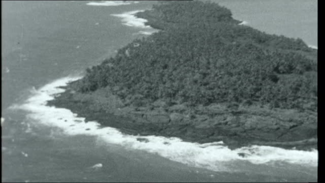 vidéos et rushes de virgins and devils; french guiana: salvation islands: air views aerials islands and general views - dom tom
