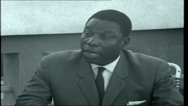 war in angola interview with senhor burrity e silva translated sot he defends portuguese policy in africa members of angolan liberation army lined at... - portuguese culture stock videos & royalty-free footage