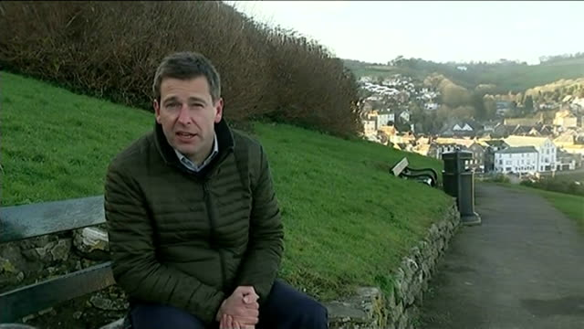 row breaks out in cornish village over plan to bring back 'hitler's walk' sign vox pop reporter to camera boats in harbour seagull sitting on post... - publican stock videos & royalty-free footage