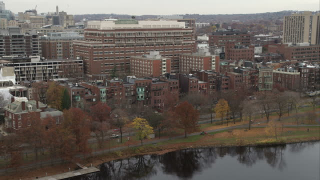 Row houses along the Charles River, Boston. Shot in November 2011.