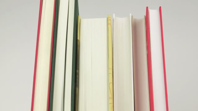 HD Row of Books Stop-Motion-Animation