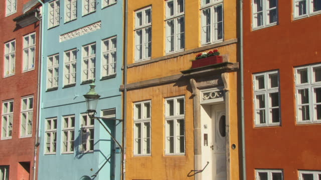CU, ZO, Row of colorful houses, Christianshavns, Copenhagen, Denmark