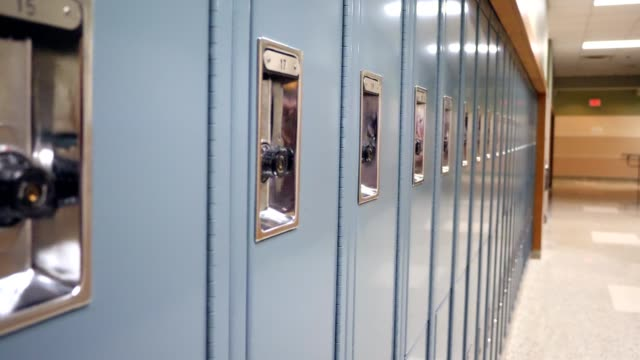 row of lockers in school building - back to school stock videos & royalty-free footage