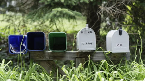 row of mailboxes - letterbox stock videos & royalty-free footage