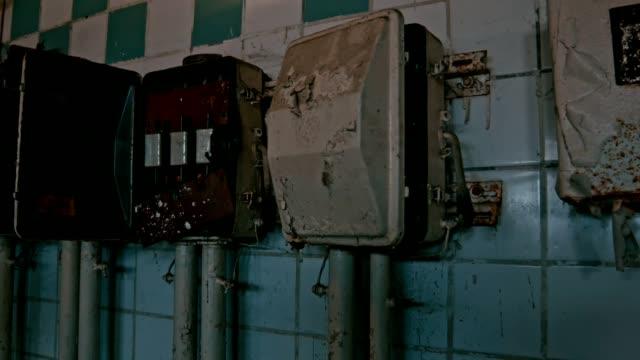Reihe von alten Stromzähler
