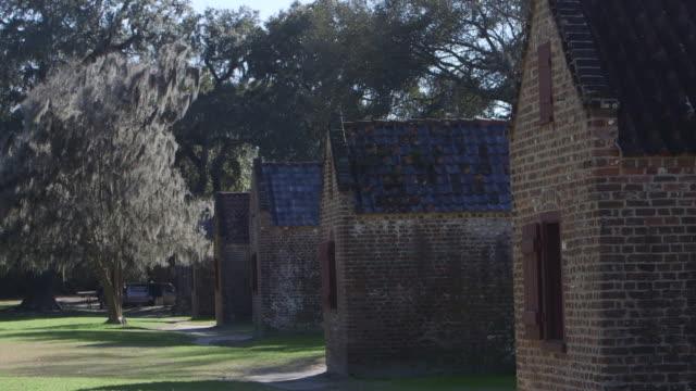 row of slave quarters - slavery stock videos & royalty-free footage