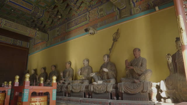 WS Row of statues inside of Yonghe Temple, Beijing, China